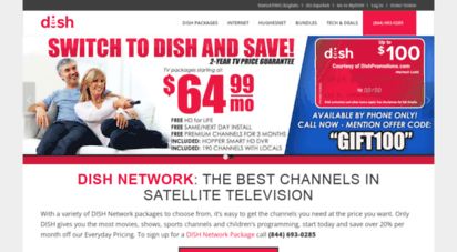 dishpromotions.com - dish network tv packages and dish internet - 844 693-0285