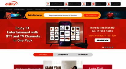 dishtv.in - dthdirect to home service provider india, hd/sd set top box -dishtv