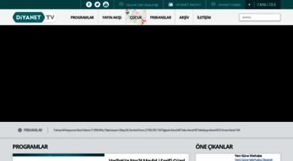 diyanet.tv - diyanet tv resmi web sitesi