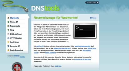 dnstools.ch - netzwerkzeuge für webworker! - netzwerk, domain und dns-tools