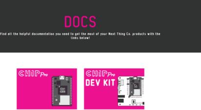 Welcome to Docs getchip com - Next Thing Co  Docs