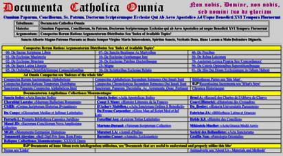documentacatholicaomnia.eu - docmenta catholica omnia - multilanguage catholic e-book database of all the writings of holy popes, councils, church fathers and doctors, and allied auctors