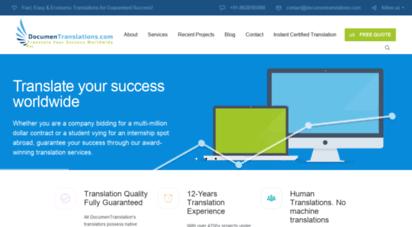 documentranslations.com - docmentranslations  1 translation agency in india