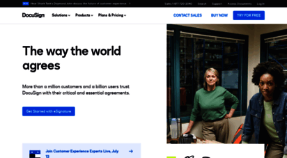 docusign.com - docusign  1 in electronic signature and agreement cloud