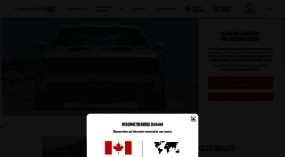 Dodge Canada Build And Price >> Welcome To Dodge Ca Dodge Vehicles Muscle Cars And