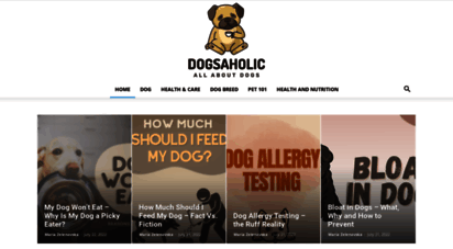 dogsaholic.com - dogsaholic: dog care, training, supplies reviews and articles