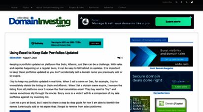 domaininvesting.com - domain investing news, strategy & tips  domaininvesting.com