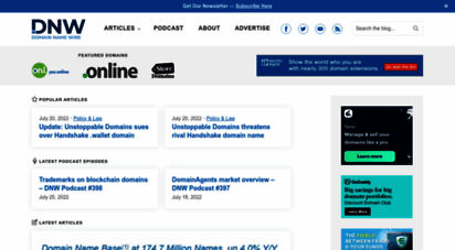 domainnamewire.com - domain name wire  domain name news - domain name industry news