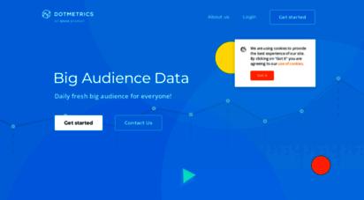dotmetrics.net - dotmetrics - daily fresh big audience data