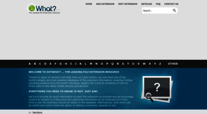dotwhat.net - dotwhat? - the leading file extension resource