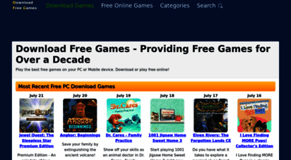 download-free-games.com - download free games - 100 safe and secure free download games