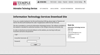 Welcome To Downloadtempleedu Download Site Temple Cs