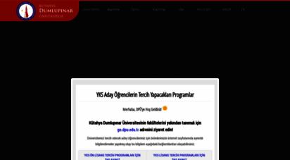 dpu.edu.tr - t.c. kütahya dumlupınar üniversitesi
