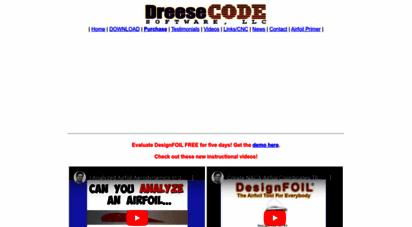 Welcome to Dreesecode com - DesignFOIL NACA Airfoil