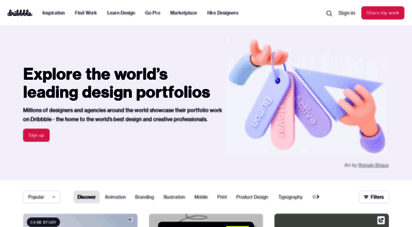 dribbble.com - dribbble - discover the world´s top designers & creative professionals
