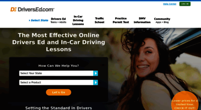 driversed.com - drivers ed online: approved driver education courses, in-car driving lessons, & traffic school