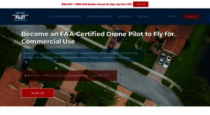 dronepilotgroundschool.com - faa drone certification test prep  drone pilot ground school