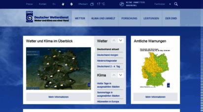 dwd.de - wetter und klima - deutscher wetterdienst - startseite