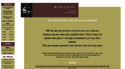 dylanchords.info - dylanchords.info - bob dylan: chords and lyrics - dylanchords.com unofficial mirror