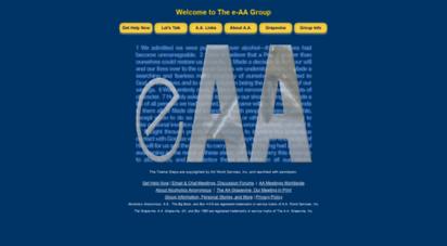 e-aa.org - e-aa group of alcoholics anonymous : online aa meetings : aa links : aa resources : aa fellowship