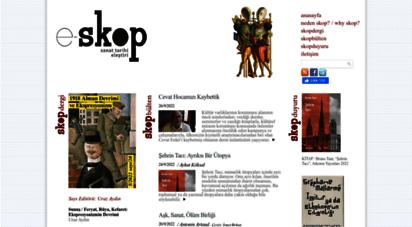 e-skop.com - e-skop  e-dergi, sanat tarihi
