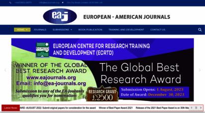 eajournals.org - welcome to european/american journals - ea journals