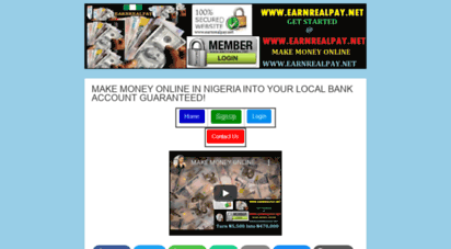 earnrealpay.net - make money online in nigeria  your local bank account guaranteed!