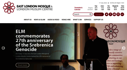 eastlondonmosque.org.uk - welcome  east london mosque