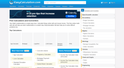 easycalculation.com - free online math calculator and er