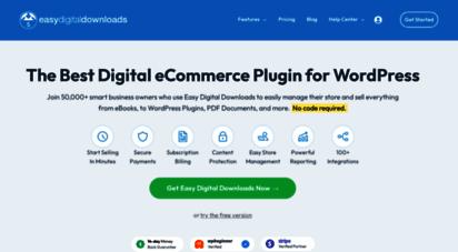 easydigitaldownloads.com - easy digital downloads - sell digital downloads with wordpress