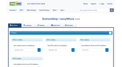 easywhois.com - easywhois: lookup domain whois records and research dns information