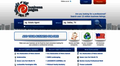 ebusinesspages.com - ebusiness pages - usa business directory