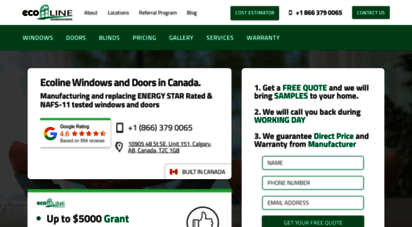 ecolinewindows.ca - ecoline doors and windows canada - windows replacement canada