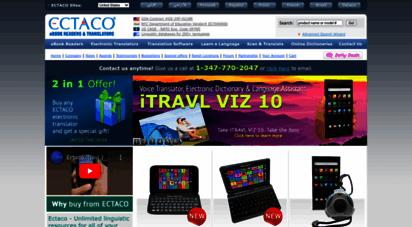 ectaco.com - ectaco - electronic dictionary, handheld electronic dictionaries, electronic translator, translation software, ebook reader. - ectaco
