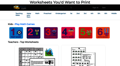 edhelper.com - free worksheets and math printables you´d actually want to print  edhelper