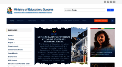 education.gov.gy - ministry of education, guyana