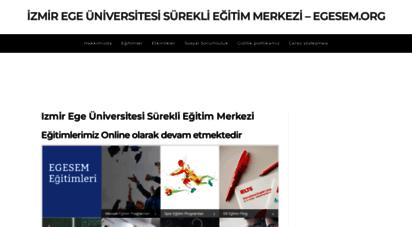 egesem.org - izmir ege üniversitesi sürekli eğitim merkezi - egesem.org