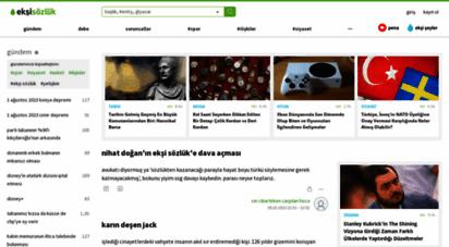 eksisozluk.com - ekşi sözlük - kutsal bilgi kaynağı