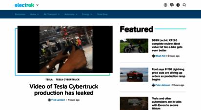 electrek.co - electrek - ev and tesla news, green energy, ebikes, and more