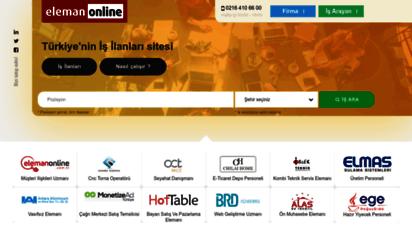 elemanonline.com.tr - elemanonline  online iş ilanları ve eleman ilanları sitesi