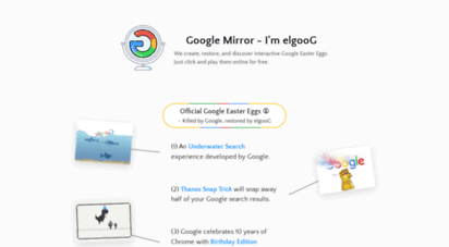 elgoog.im - google mirror - i´m elgoog