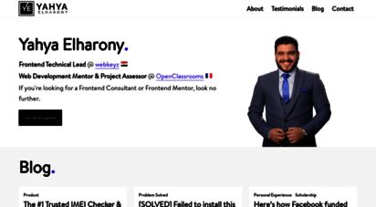 elharony.com - yahya elharony  frontend engineer 💻