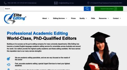 Welcome to Eliteediting com au - Thesis & Essay Academic