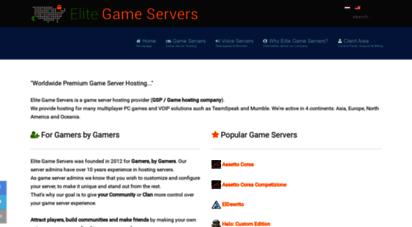 elitegameservers.net - premium game server hosting in the eu and usa - elite game servers