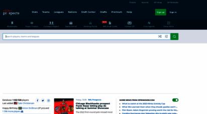 eliteprospects.com - elite prospects - hockey players, stats and transactions
