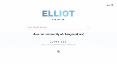 elliotforwater.com - home - elliot for water