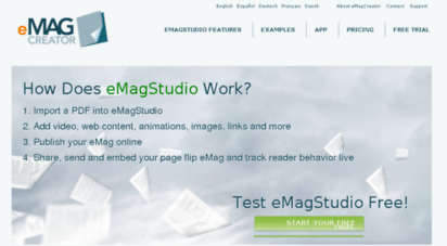 Welcome to Emagcreator pt - Online publishing - PDF to HTML5