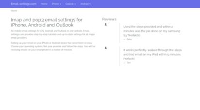 email-settings.com