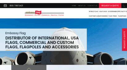 embassyflag.com - embassy flag: distributor of international flags, flags of the usa, flagpoles and custom flags