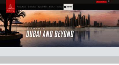 emiratesholidays.com -  browser